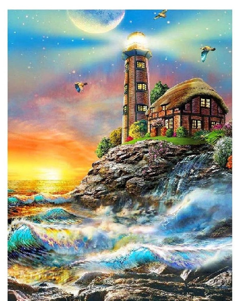 12  inches by 16 inch Larger 5d diamond painting kit