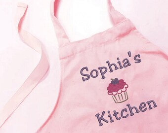 Personalised Children's Apron, Apron for Kid's, Cupcake or Fairy, Children's Cookware, Cupcake Decoration, Personalized Apron