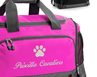 Personalised Dog Grooming / Show Bag, Dog Groom Bag, Pet Show Holdall, with Embroidered Name