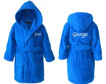 Personalised Girls Dressing Gowns Personalized Kids Robes Etsy