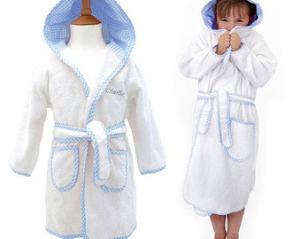 dc23d656e2 Personalised Children s Towelling Dressing Gown with Hood