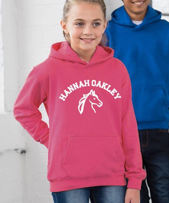 Girls Personalised Horse Riding Hoodie