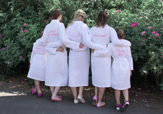 Personalised Getting Ready Bridesmaid Dressing Gowns White  12d2ec8ce