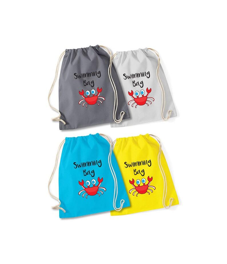 add child/'s name Personalised swimming sports kit bag Drawstring PE school