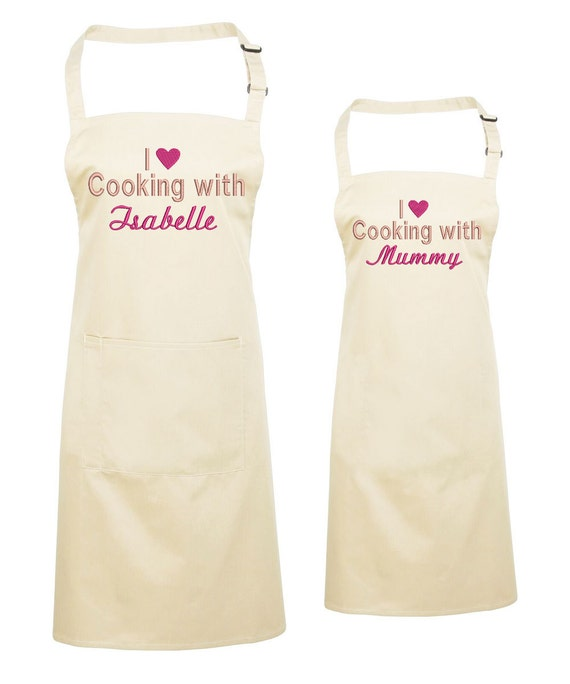 PERSONALISED MULTI STAR BAKER PRINT SOFT POLYESTER APRON ADULT KITCHEN GIFT