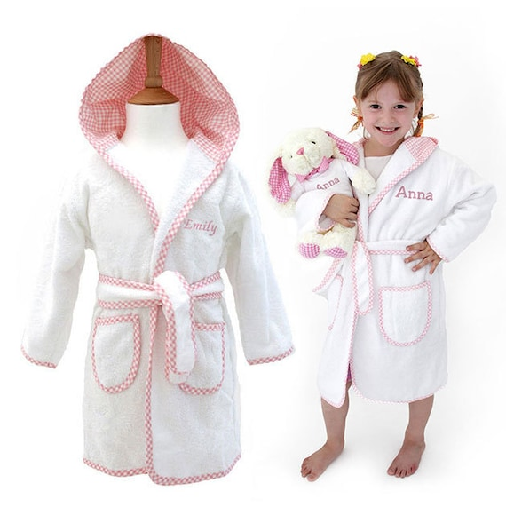4a43b72480 Personalised Children s Towelling Dressing Gown with Hood