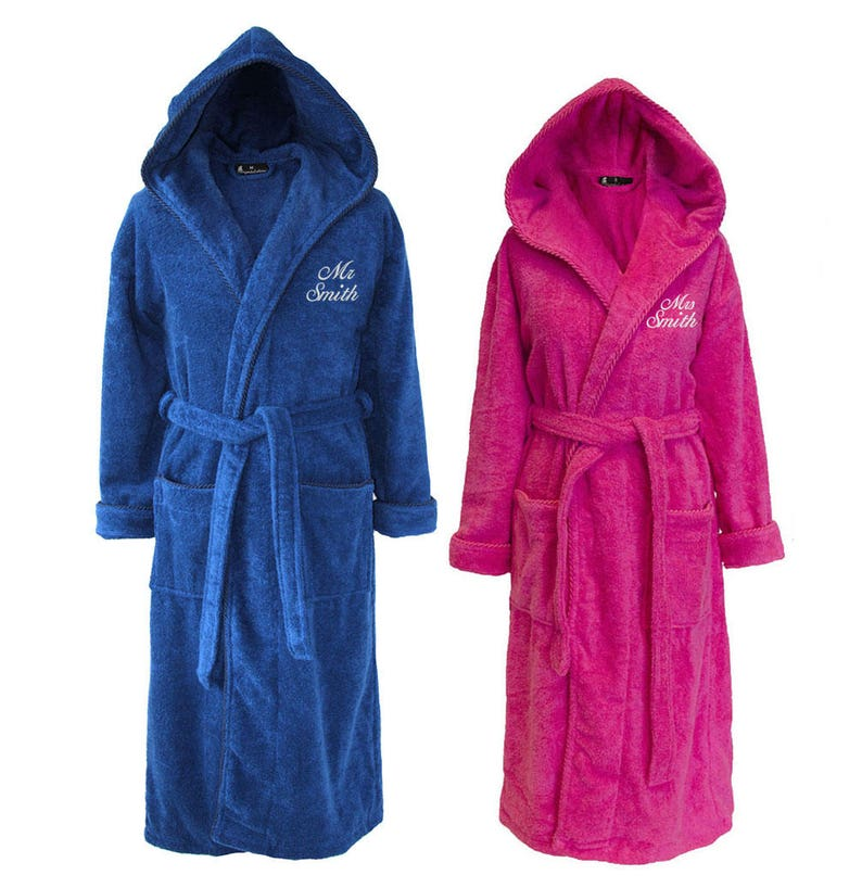 de982399ad Personalised Set of Mr   Mrs Towelling Dressing Gowns Mr and