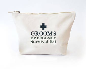 Groom's Survival Kit Bag, Ready to be filled with Wedding Day Essentials, Groom Wedding Gift, Funny Groom Gift