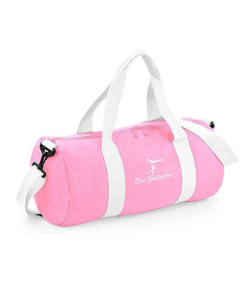 337c7b94c Personalised GYMNAST Holdall Duffel Bag, Overnight, Gym, Gymnastics Travel  Barrel Bag, with Embroidered Names or Text and Gymnastics Logo