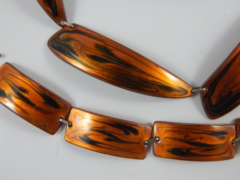Marca Enamel on Copper Jewelry Set