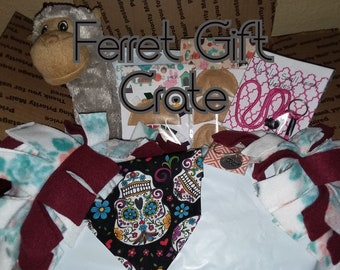 Ferret Gift Crate | Ferret Gift Box | Toy set | Ferret Toys | Ferret Box | Small Animal | Ferret | Items for Ferret | Mystery Gift Box |