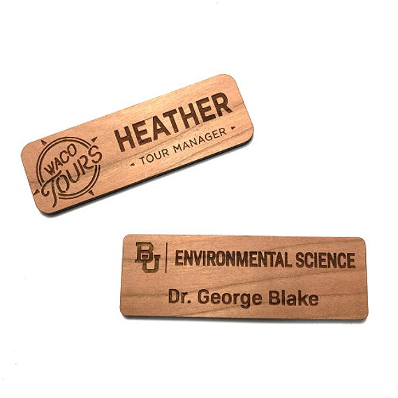 Wooden Nametags