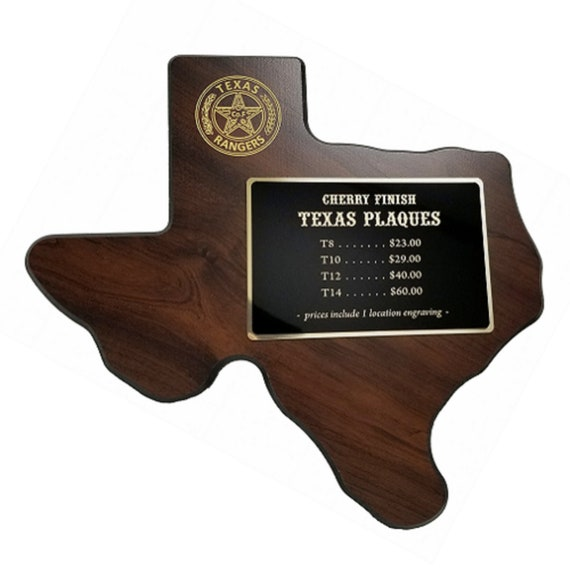 Texas Plaque