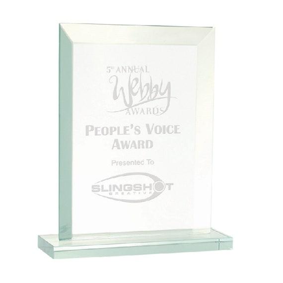Glass Award Plaque