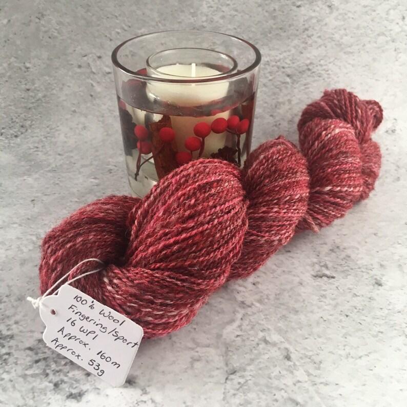 Cranberry Multi coloured Hand Spun 100% Wool image 0