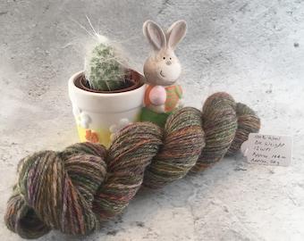 Multi coloured, Hand Spun, 100% Wool, DK Weight Yarn, 54g, 144m