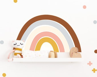 wall tattoo, rainbow, rainbow shelf, IKEA, MOSSLANDA, birth gifts, stickers, decal, baby room, children's room, (furniture NOT included)