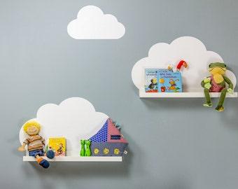 Wandtattoo, Wolken, Wolkenregal, MOSSLANDA, Geschenke zur Geburt, Bilderleiste, Wandsticker, Sticker, Babyzimmer, (Möbel NICHT inklusive)