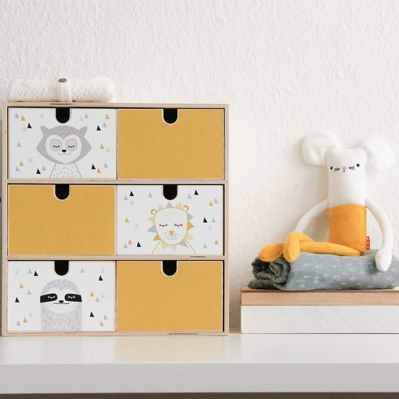 Mini Cassettiera Ikea Moppe.Ripulire Il Adesivi Adesivi Moppe Ordine Casella Ordine Etsy