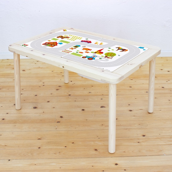 play mat car, sticker kids table, play mat baby, car print, suitable for IKEA FLISAT, play mat for toddler, playtable, (table NOT included)