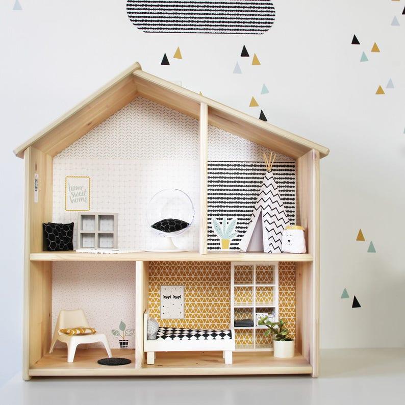 Puppenhaus Flisat Ikea Aufkleber Sticker Puppenhaus Etsy