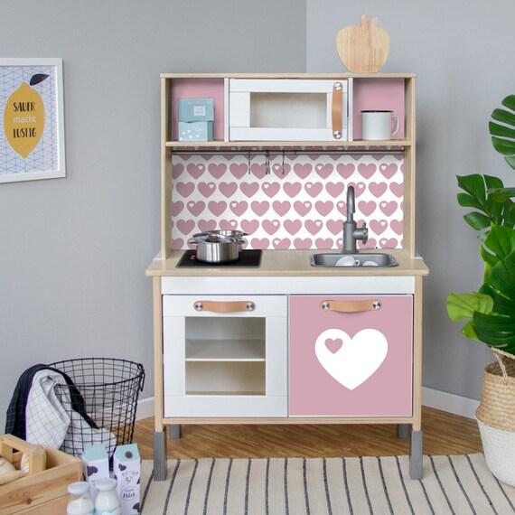 DUKTIG, IKEA bambini Accessori per la cucina, adesivi, lamina mobili,  adesivo, byGraziela, nido, baby-room, rosa, (mobili non inclusi)