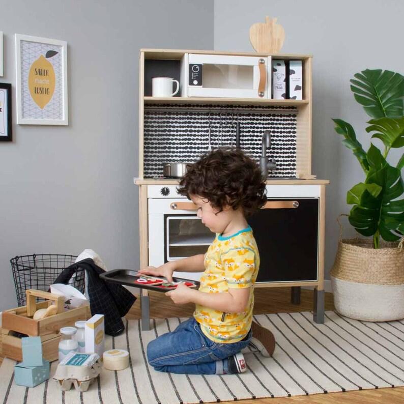 Duktig Ikea Kinderen Keuken Sticker Zelfklevende Folie Meubilair Folie Stickers Muur Stickers Kinderkamer Babyruimte Zwart Meubilair Niet