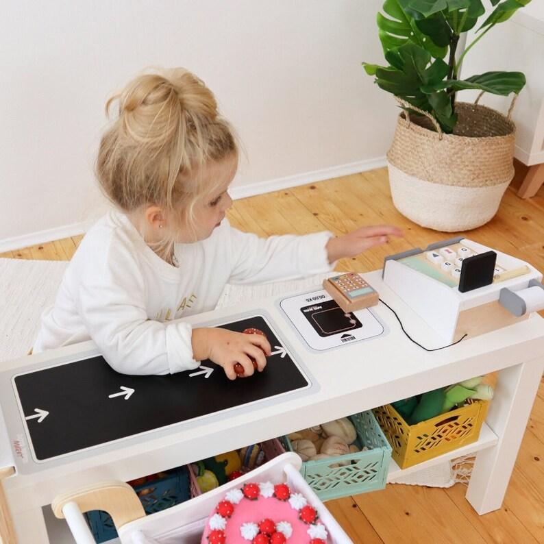 Zubehör Kaufladen Aufkleber DUKTIG LACK TV Bank Ikea   Etsy