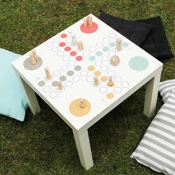 Aufkleber Brettspiel Wurfelspiel Ikea Lack Spieltisch Etsy