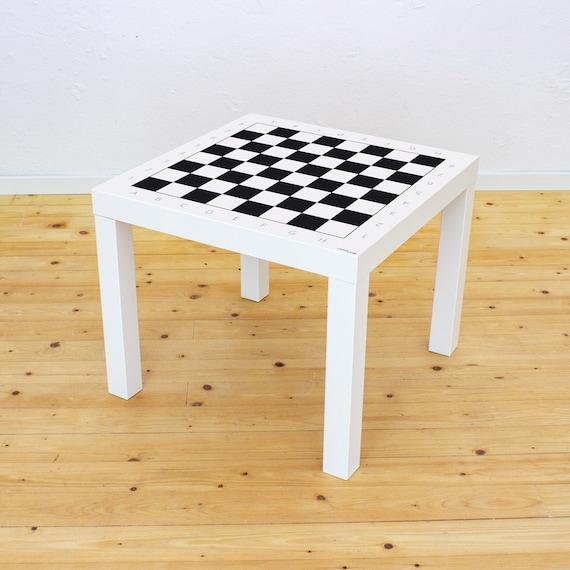 Tavolino Per Mangiare A Letto Ikea.Adesivi Giochi Da Tavolo Scacchi Ikea Lack Tavolo Da Gioco Etsy