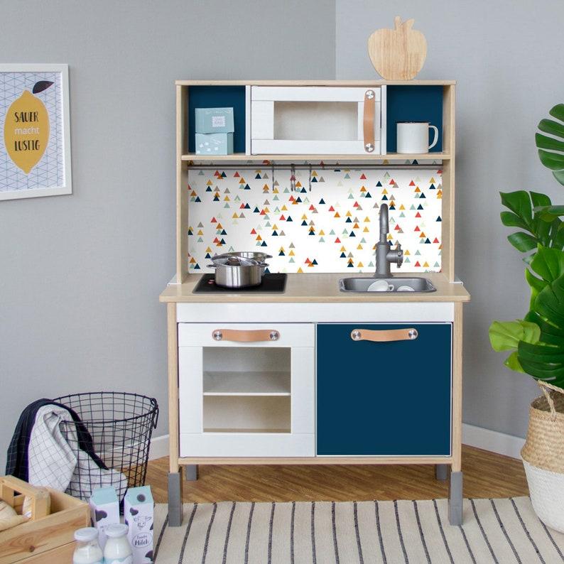 Duktig Ikea Kinderen Keuken Sticker Zelfklevende Folie Meubilair Films Stickers Muur Stickers Kinderkamer Babyruimte Blauw Meubilair Niet