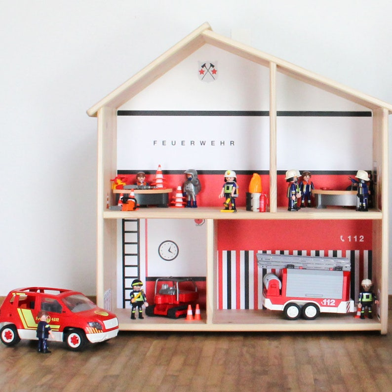 Fire Station Sticker Wall Decal Gift Boy Room Decor Ikea Etsy