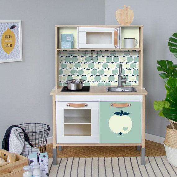 DUKTIG, accessori per bambini cucina IKEA, adesivo, adesivi, Apple e mobili  lamina byGraziela, asilo nido, baby-room, (mobili non inclusi)