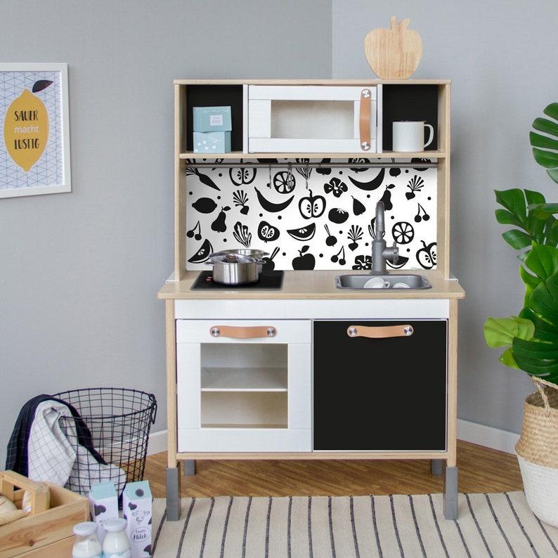 Duktig Spel Keuken Van Ikea Sticker Zelfklevende Folie Meubilair Films Stickers Muur Stickers Kinderkamer Babyruimte Zwart Meubilair Niet