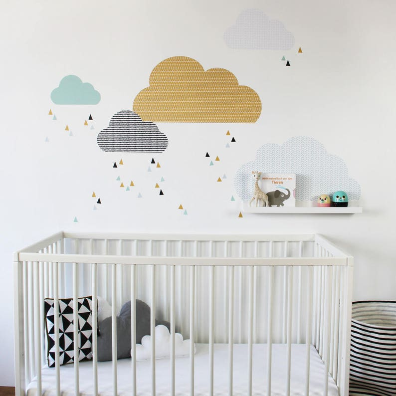 cloud wall stickers cloud shelf cloud stickers cloud | etsy