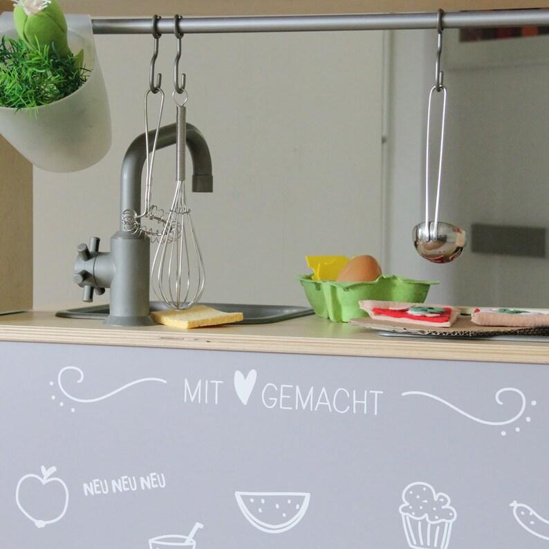 Duktig Ikea Kinderen Keuken Winkel Hout Accessoires Stickers Lijm Stickers Muur Stickers Kinderkamer Grijs Meubilair Niet Inbegrepen