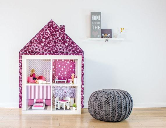 Mobili Per Bambole Ikea : Sticker dollhouse dollhouse wallpaper kallax ikea decal etsy