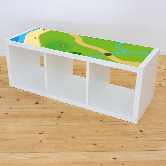 Autocollants Ferme Ikea Kallax étagère Pour Enfants Porte Commande Autocollants De Planificateur Tapis De Jeu Couverture De Jeu Chevaux