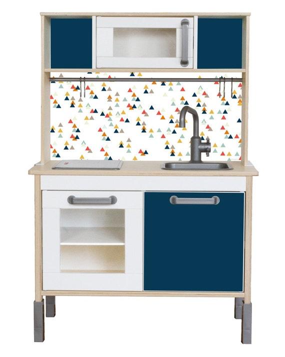 Adesivi, IKEA DUKTIG, cucina per bambini, cucina giochi, foglio adesivo,  foglio di mobili, adesivi, camera per bambini, blu (mobili NON inclusi)