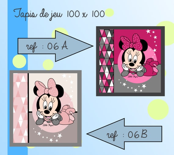 tapis de jeu 100x100cm ( thème minnie )