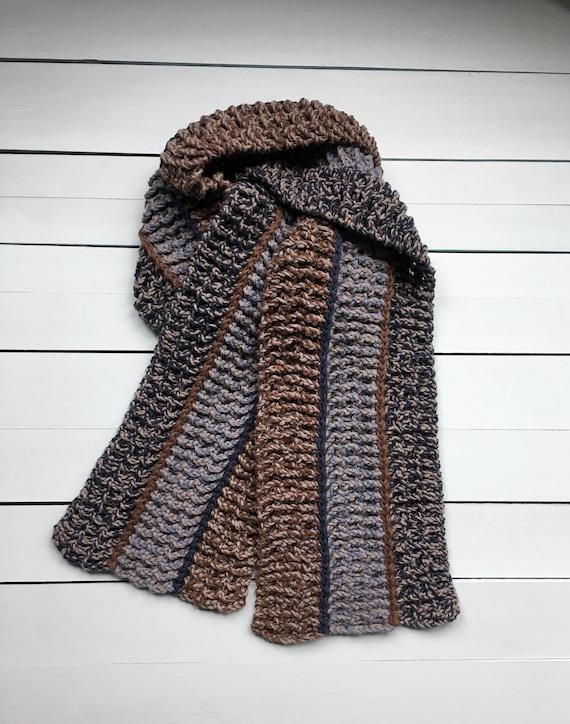 Crochet Pattern Mens Scarf Mens Crochet Scarf Pattern Easy Etsy