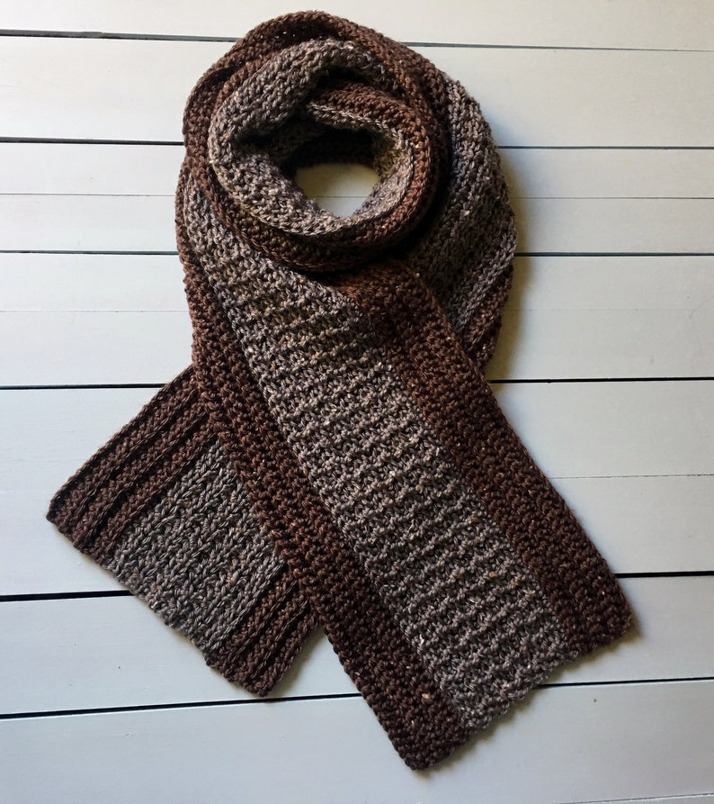 Crochet Pattern Mens Scarf Crochet Scarf Pattern For Men Etsy