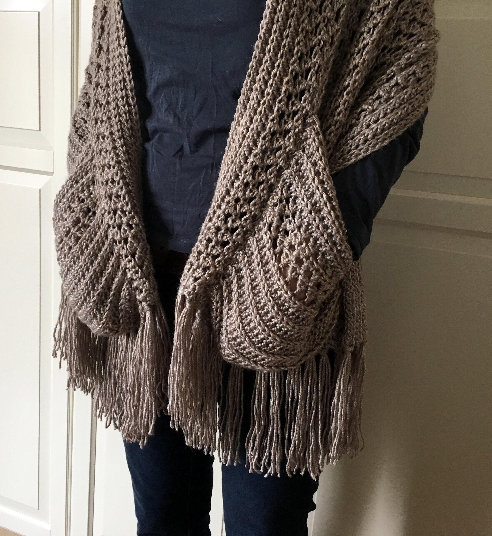 Easy Womens Scarf Pattern Crochet Wrap Pattern Easy Boho Etsy