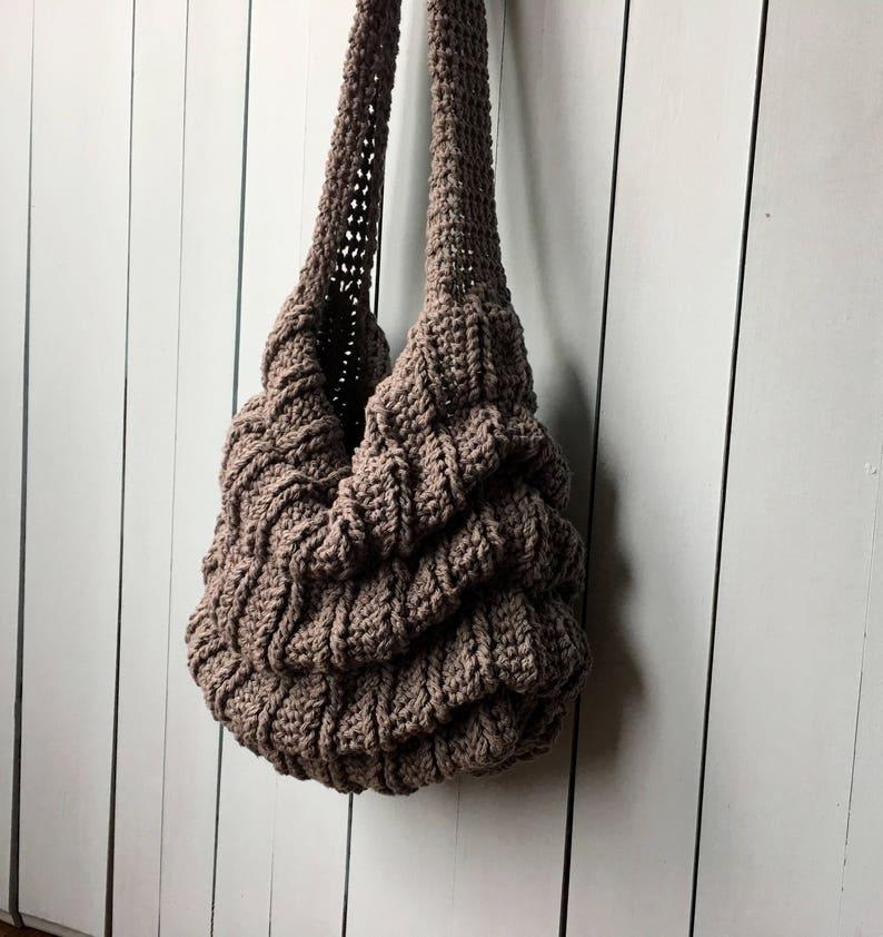 8c9d0fb6e1 Crochet Bag PATTERN Boho Bag Slouchy Bag Crochet Tote Bag