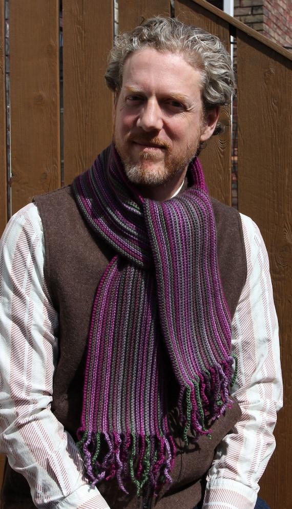 Crochet Pattern Mens Scarf Crochet Scarf Pattern Crochet Etsy