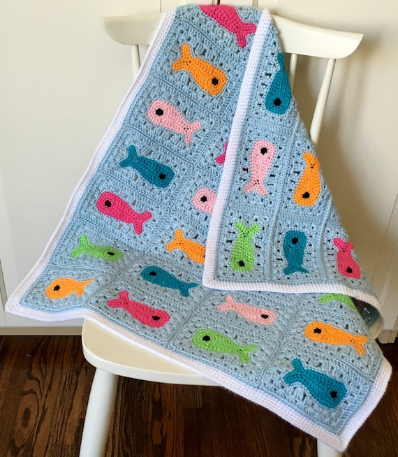 Colorful And Reversible Baby Blanket Crochet Pattern With Etsy