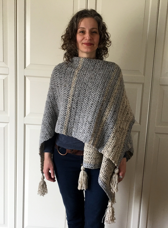Fancy Crochet Ruana Wrap Pattern Image Collection - Easy Scarf ...