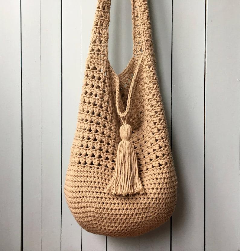 9be8167fcd Crochet Tote Bag PATTERN Bucket Bag Crochet Pattern Boho