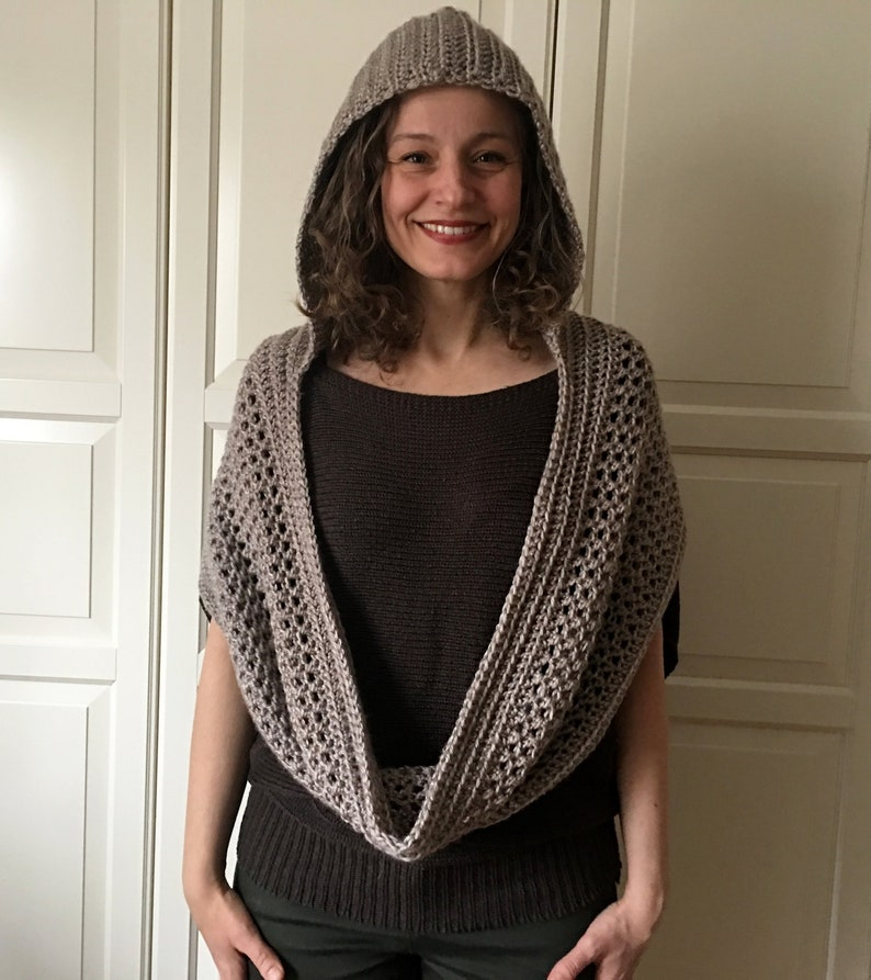 Crochet Hooded Cowl Pattern Hooded Scarf Pattern Scoodie Etsy