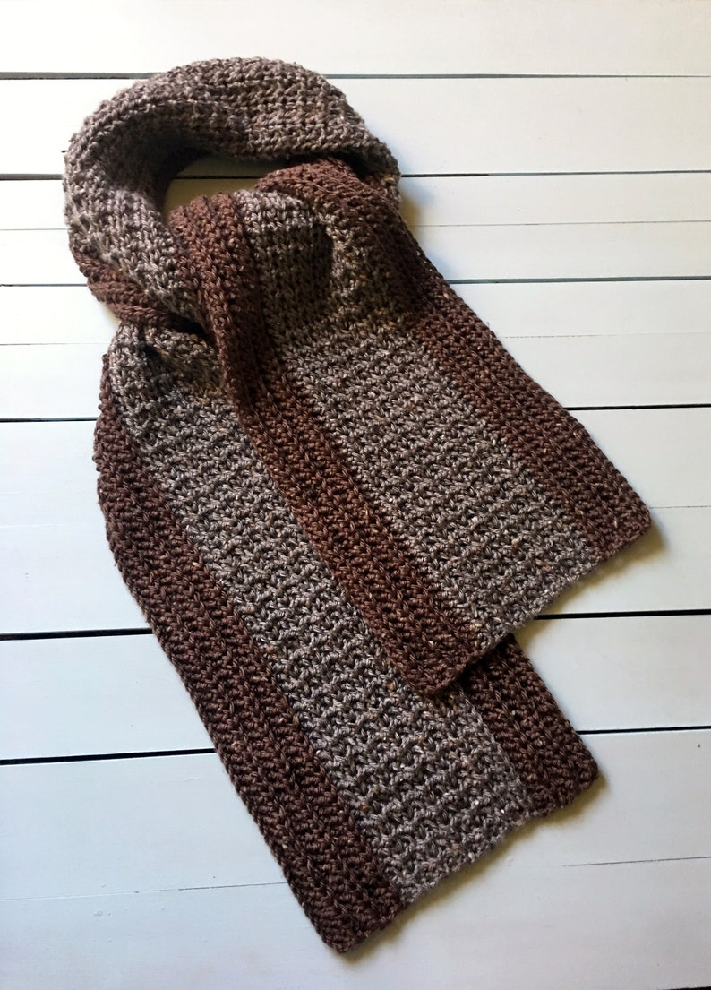 Crochet Pattern Mens Scarf Crochet Scarf Pattern For Men Etsy